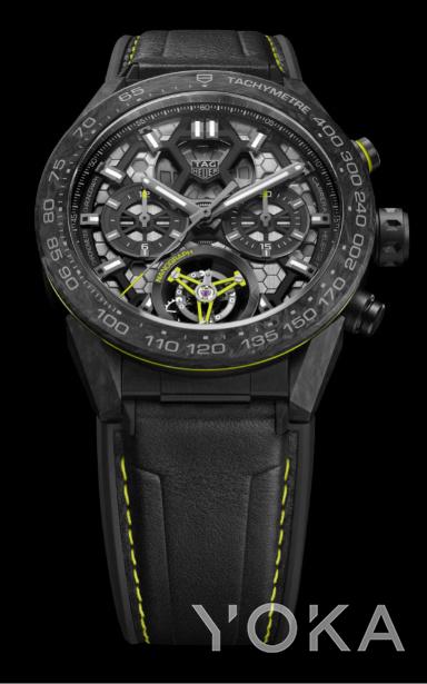 泰格豪雅Carrera(卡莱拉系列)Calibre Heuer 02T陀飞轮NANOGRAPHY纳米腕表(图片来源于品牌)