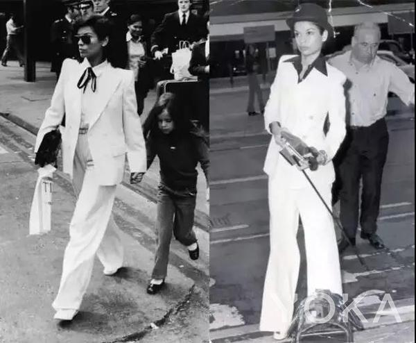 白色套裝是 Bianca Jagger 的標志性 look