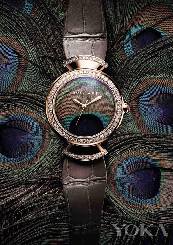 宝格丽Divas' Dream Peacock腕表(图片来源于品牌)