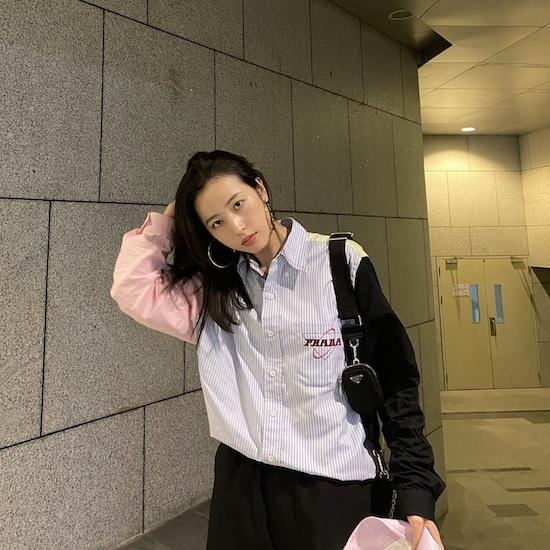 周雨彤演繹Prada 2020春夏男裝系列