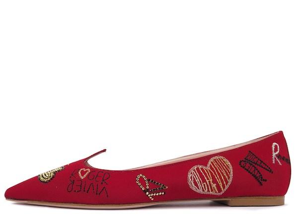 I Love Vivier Funny Love 芭蕾舞鞋