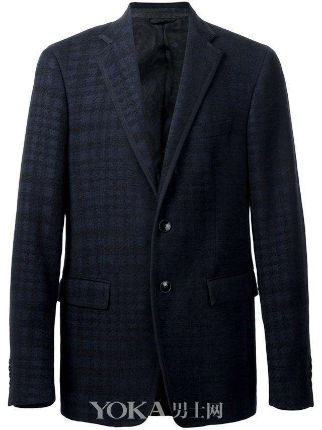 ETRO 方格图案休闲西装夹克,售价<!--_404ESCAPE404_-->2,503.48。